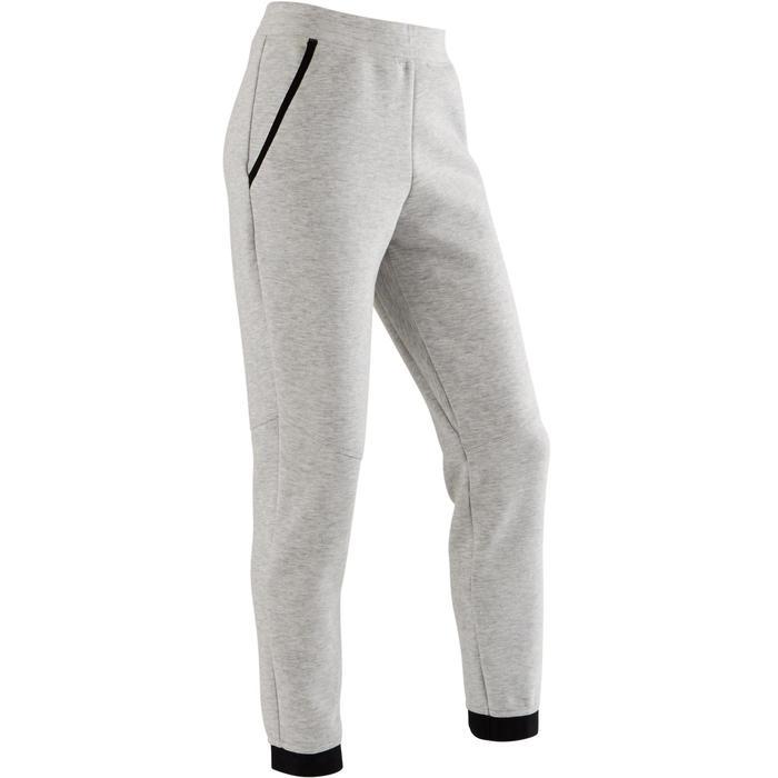 Pantalon spacer 500 Gym fille gris clair