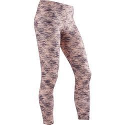 Leggings warm S500 Gym Mädchen rosa mit Print