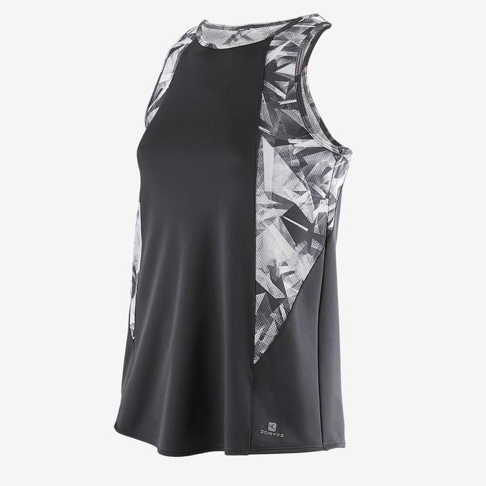 Camiseta sin mangas S900 Gimnasia niña estampado gris