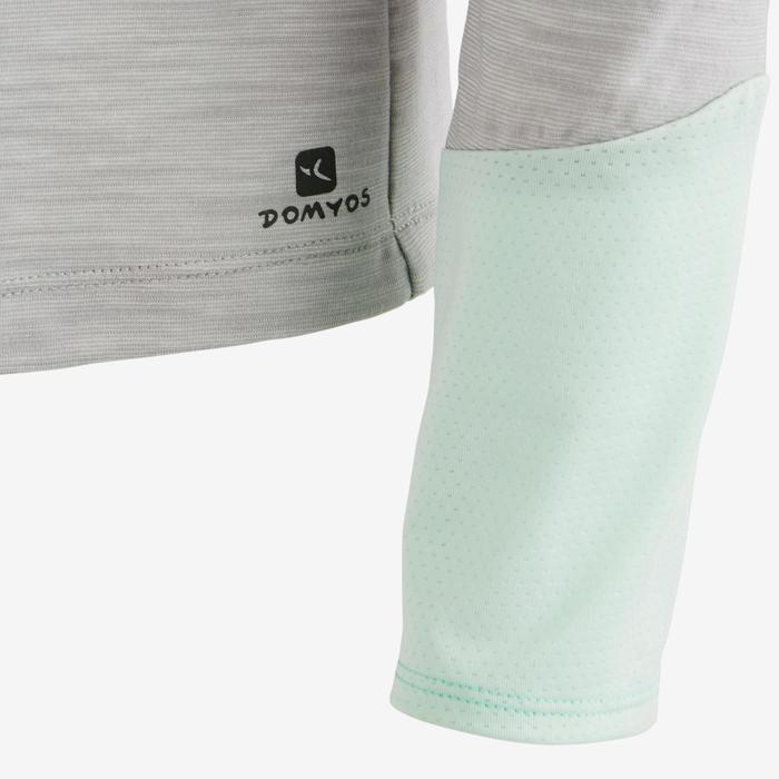 Camiseta de manga larga 500 Gimnasia niña gris