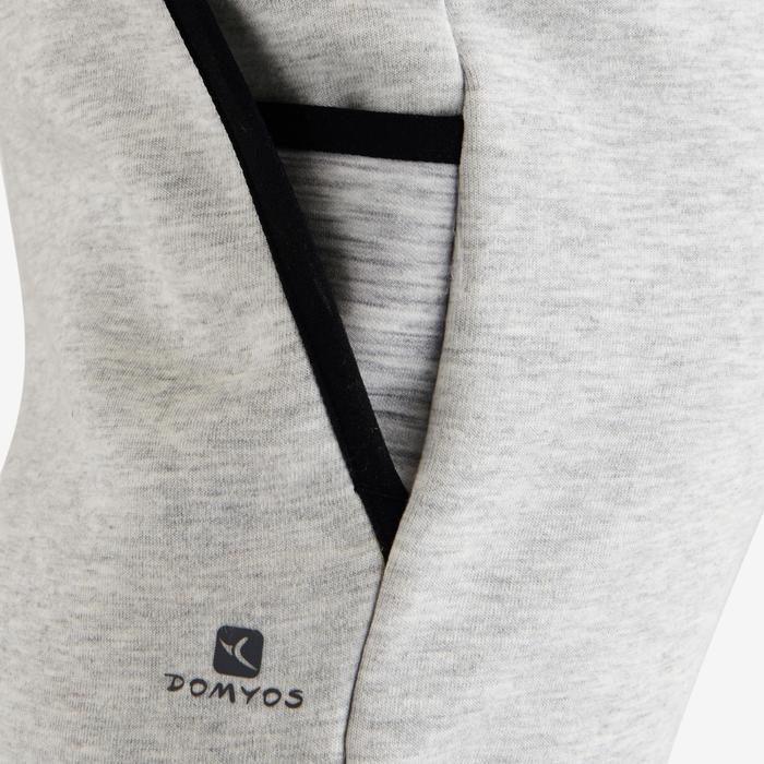 Pantalon spacer 500 Gym fille gris foncé - 1502294