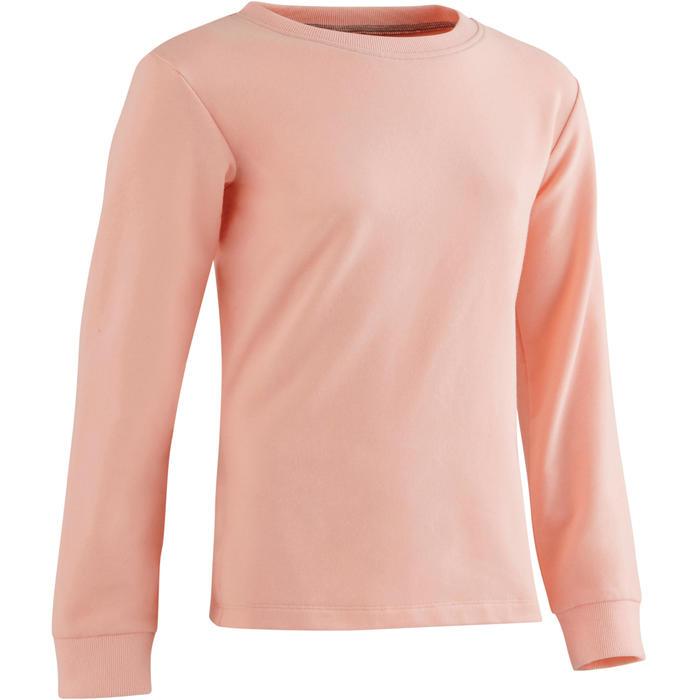 Gym sweater 100 voor meisjes roze