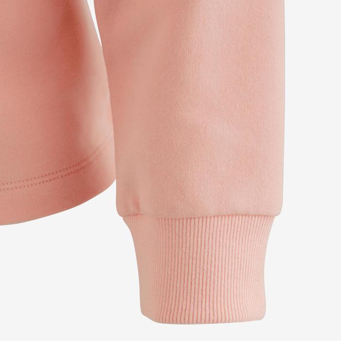 Sudadera 100 gimnasia niña rosa