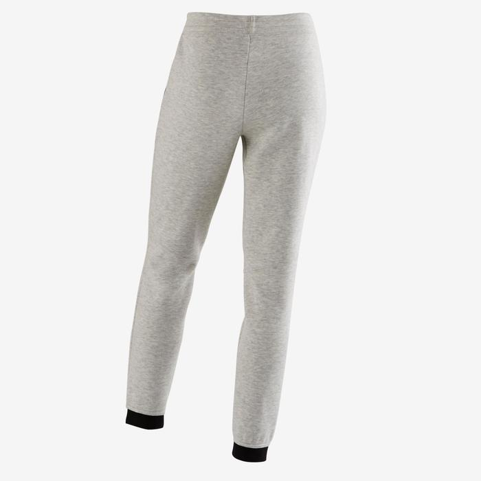 Pantalon spacer 500 Gym fille gris foncé - 1502319