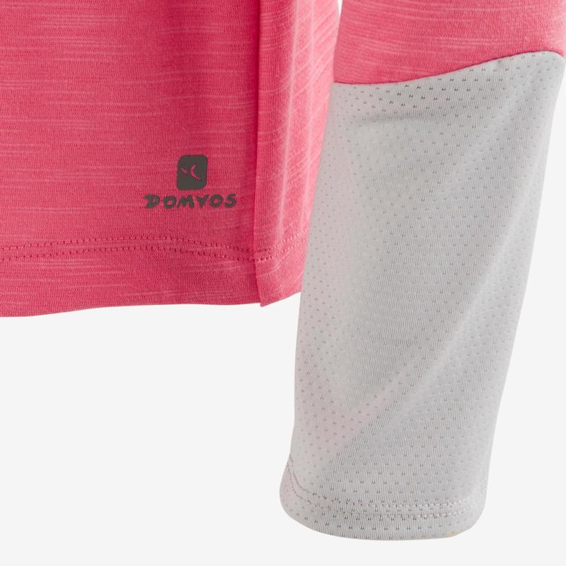 7f785fa9e Camiseta de manga larga 500 gimnasia niña rosa