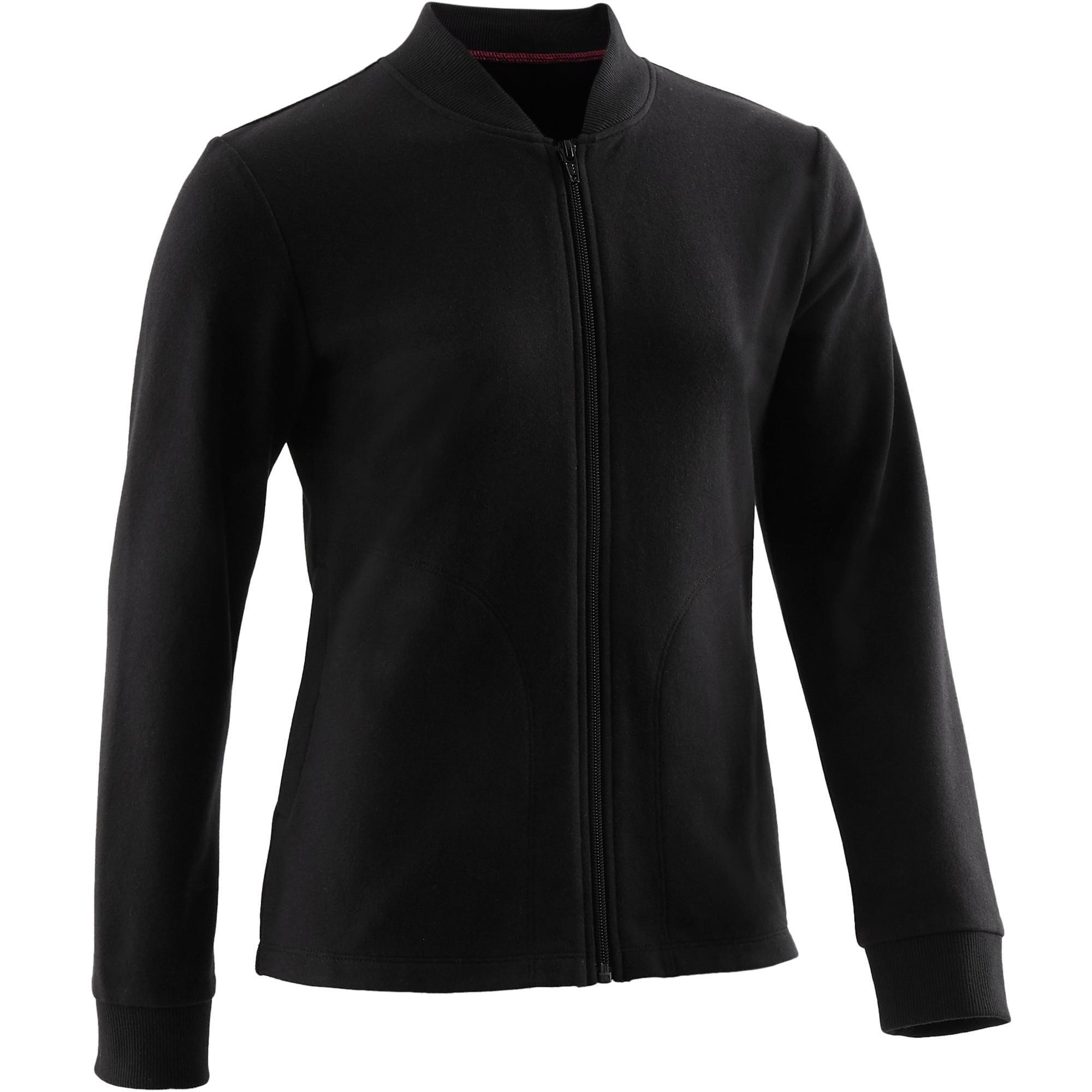 Trainingsjacke 100 Gym Kinder schwarz