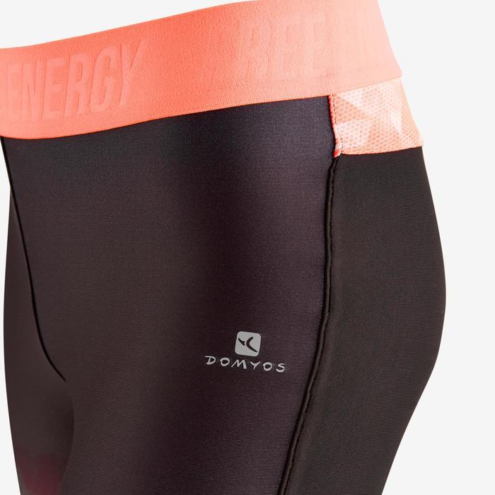 Leggings S900 Gym Kinder Farbverlauf schwarz/orange