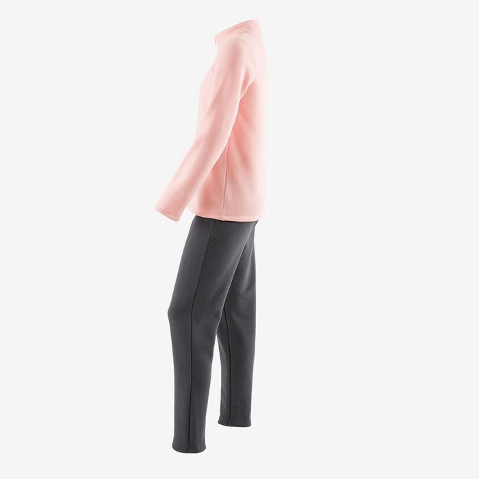 Trainingsanzug 100 Gym Warm'y Kinder rosa bedruckt