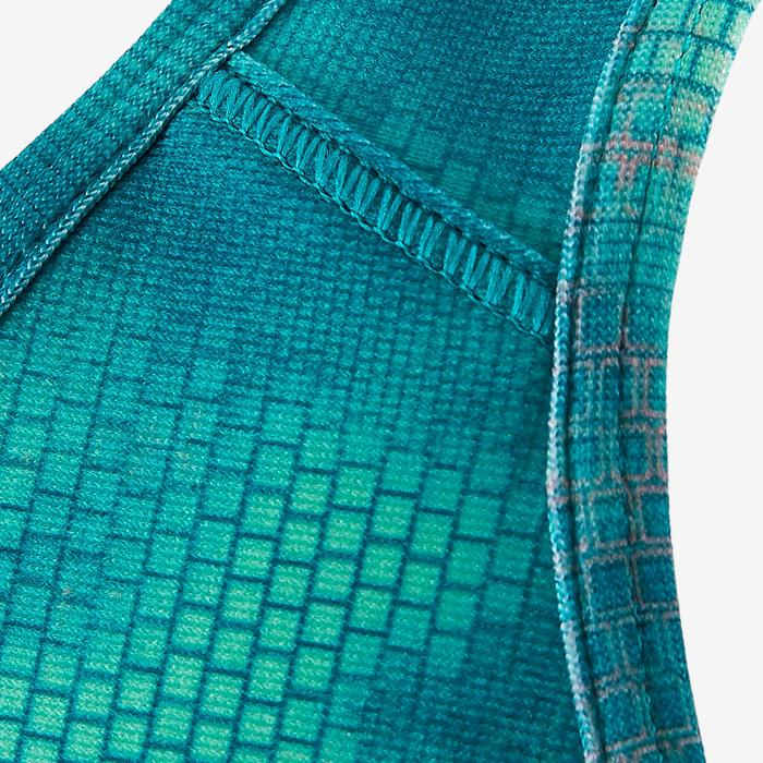 Sujetador-top S900 gimnasia niña estampado verde azul