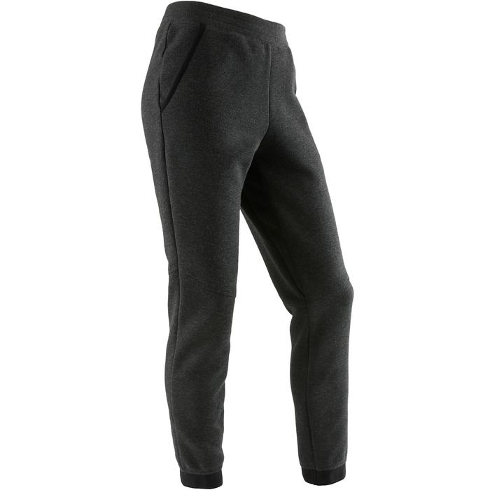 Pantalón spacer 500 Gimnasia niña gris oscuro