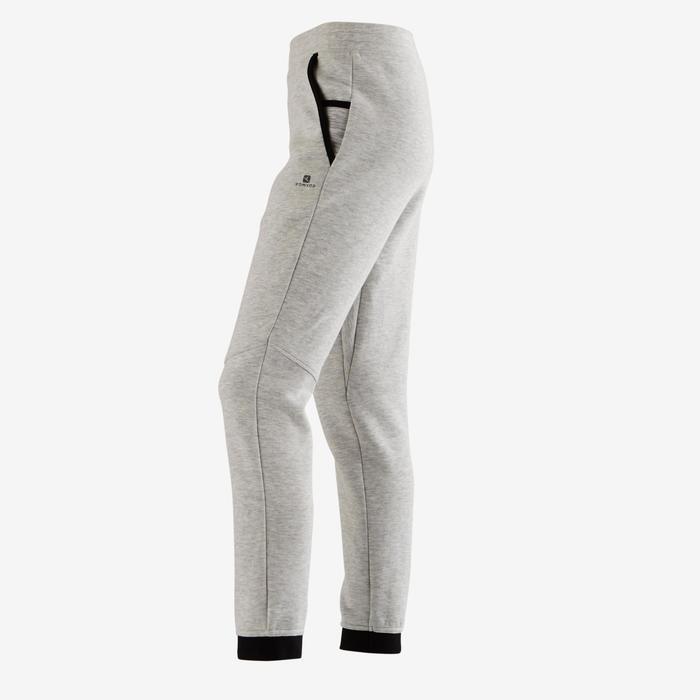 Pantalon spacer 500 Gym fille gris foncé - 1502368