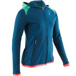 Gym hoodie met rits S900 voor meisjes blauw