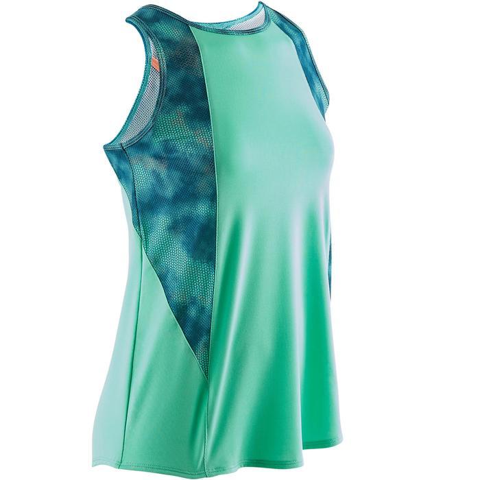 Gymtop S900 voor meisjes groen met print