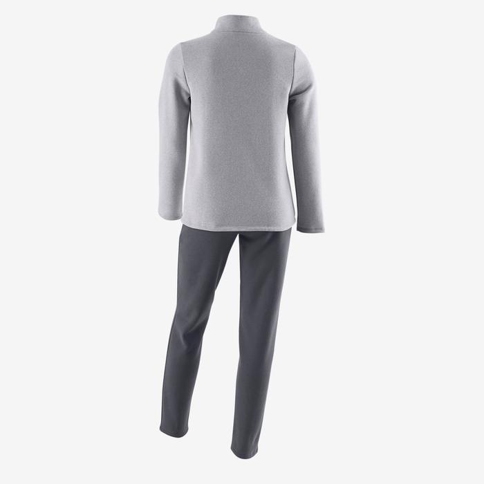 Survêtement chaud zippé imprimé Gym fille Warm'y Zip - 1502376