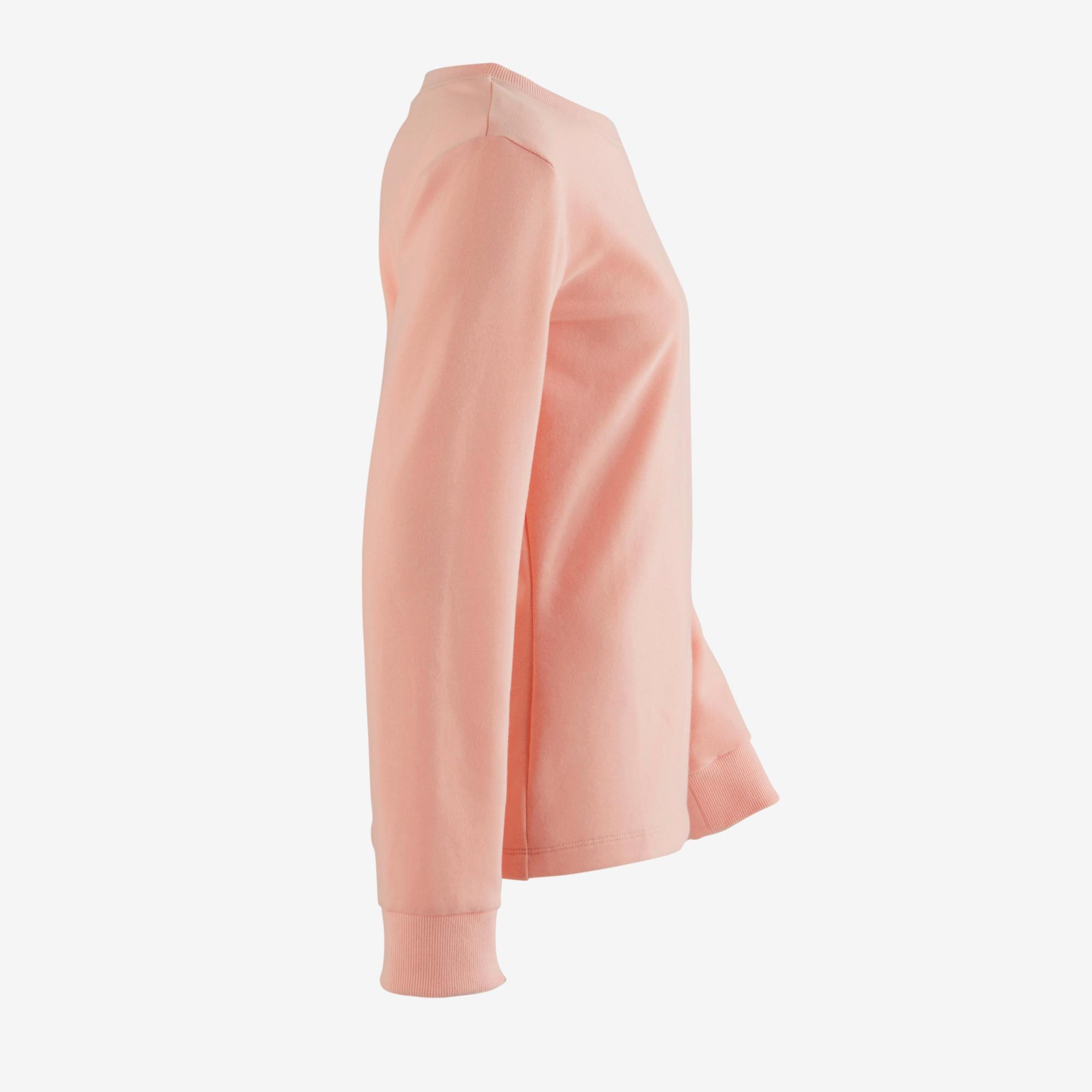 100 Girls' Gym Sweatshirt - Pink