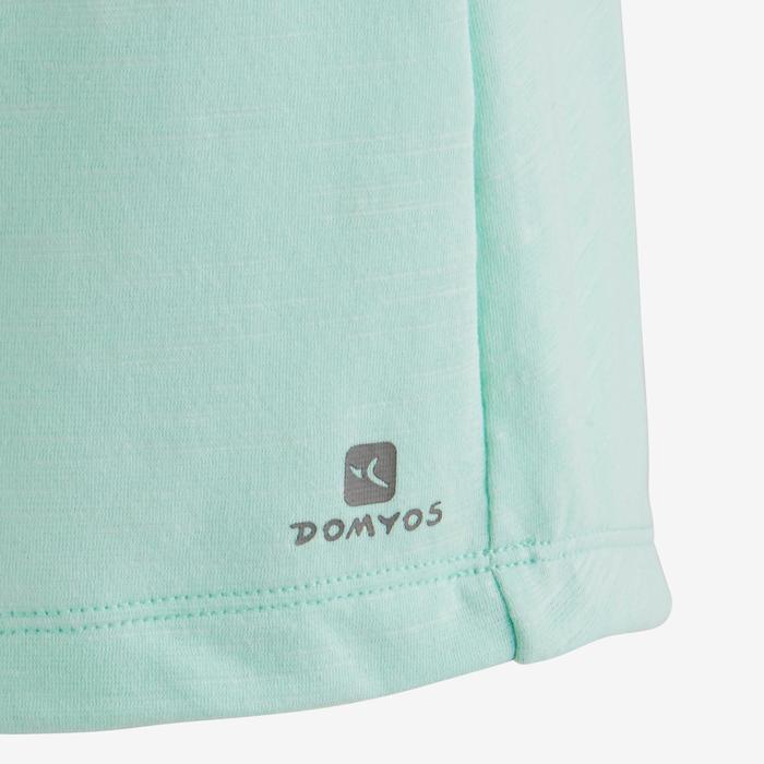 T-Shirt manches courtes 500 Gym fille bleu ciel