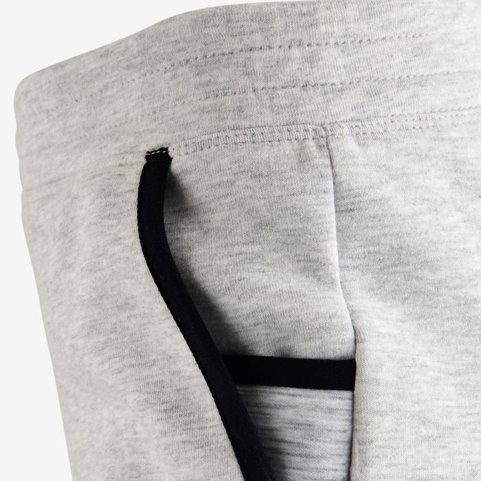 Pantalon spacer 500 Gym fille gris foncé - 1502394