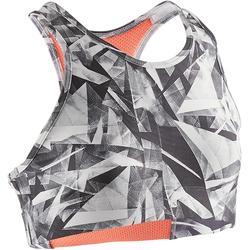 Gymtopje S900 voor meisjes wit grijs