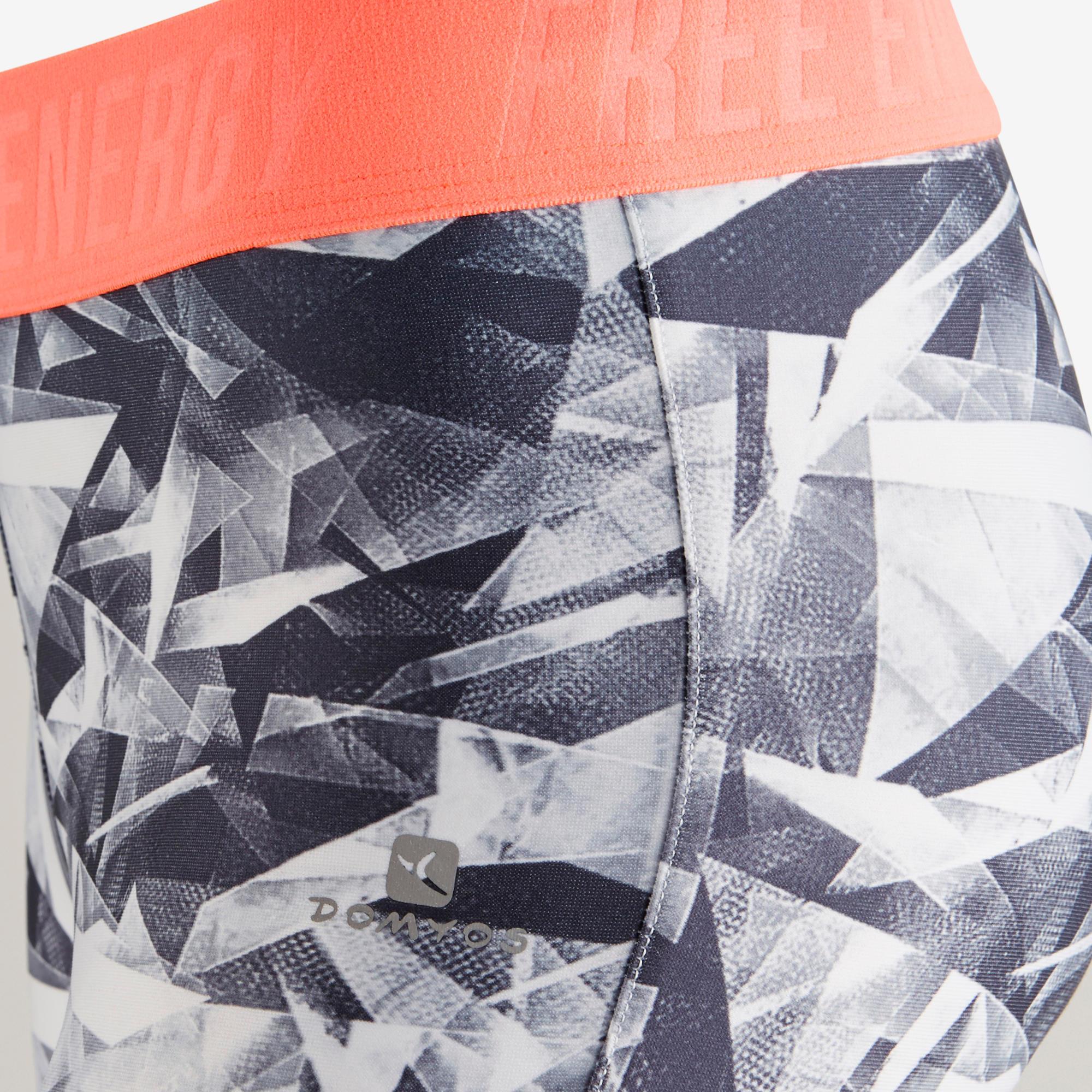 S900 Girls' Gym Leggings - White Print