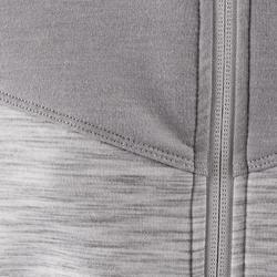 500 Spacer Girls' Gym Jacket - Grey