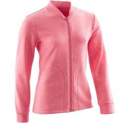 Trainingsjacke 100 Gym Kinder rosa