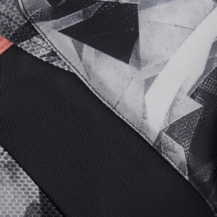 Camiseta de manga corta S900 gimnasia niña estampado gris