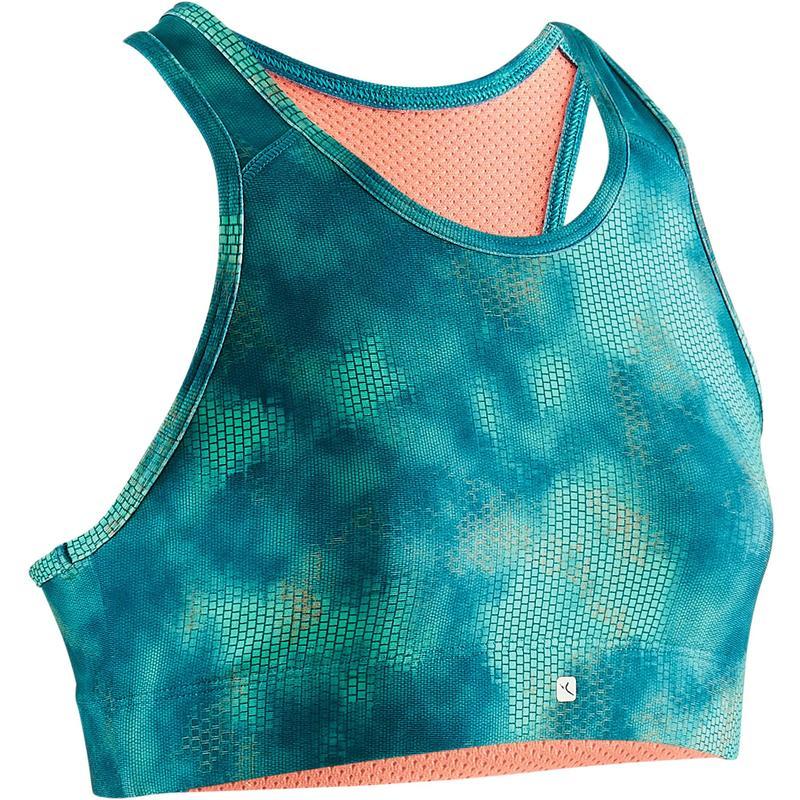 amplia selección de diseños niño bajo costo Ropa infantil - Sujetador-top S900 gimnasia niña estampado verde azul