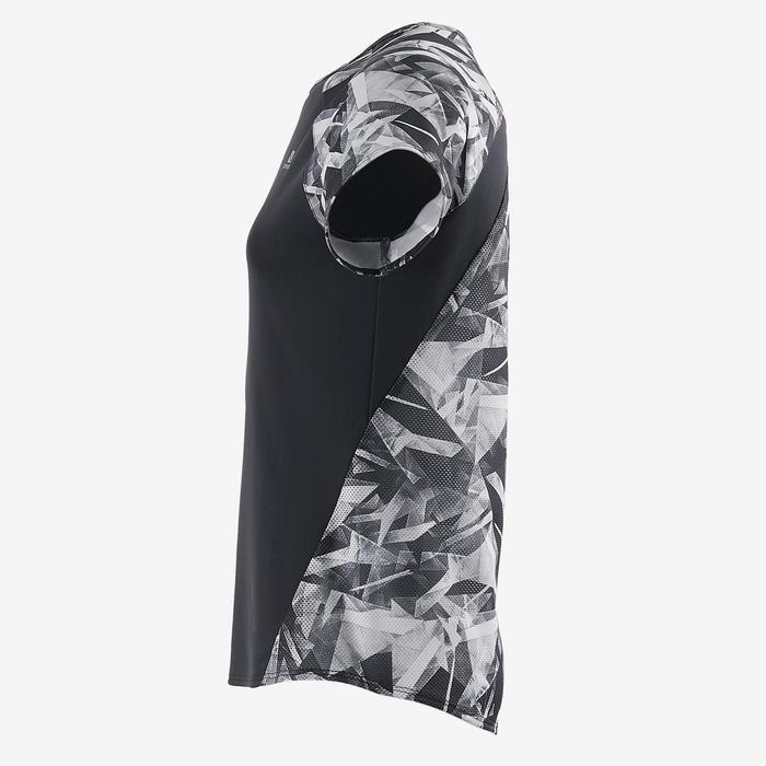 T-Shirt manches courtes S900 Gym Fille imprimé gris