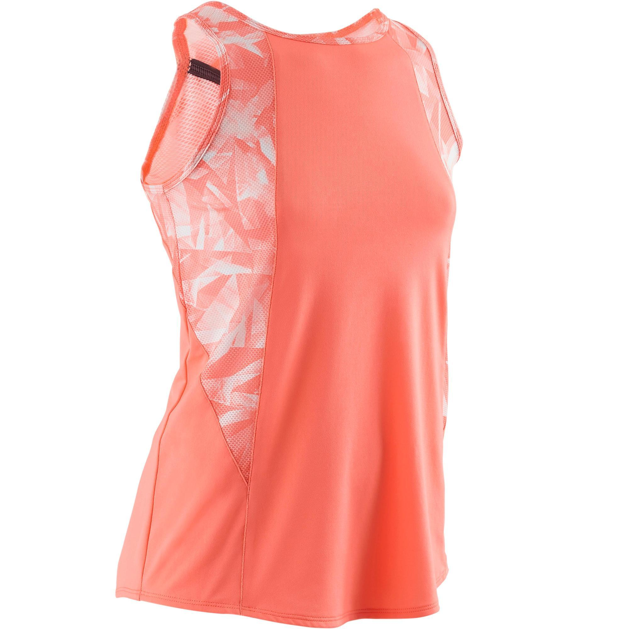 Tank-Top S900 Gym Kinder koralle mit Print