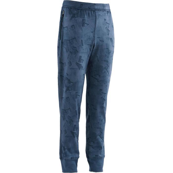 Pantalon S900 Gym garçon imprimé bleu foncé - 1502482