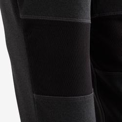 Pantalon chaud slim respirant S900 garçon GYM ENFANT gris foncé chiné