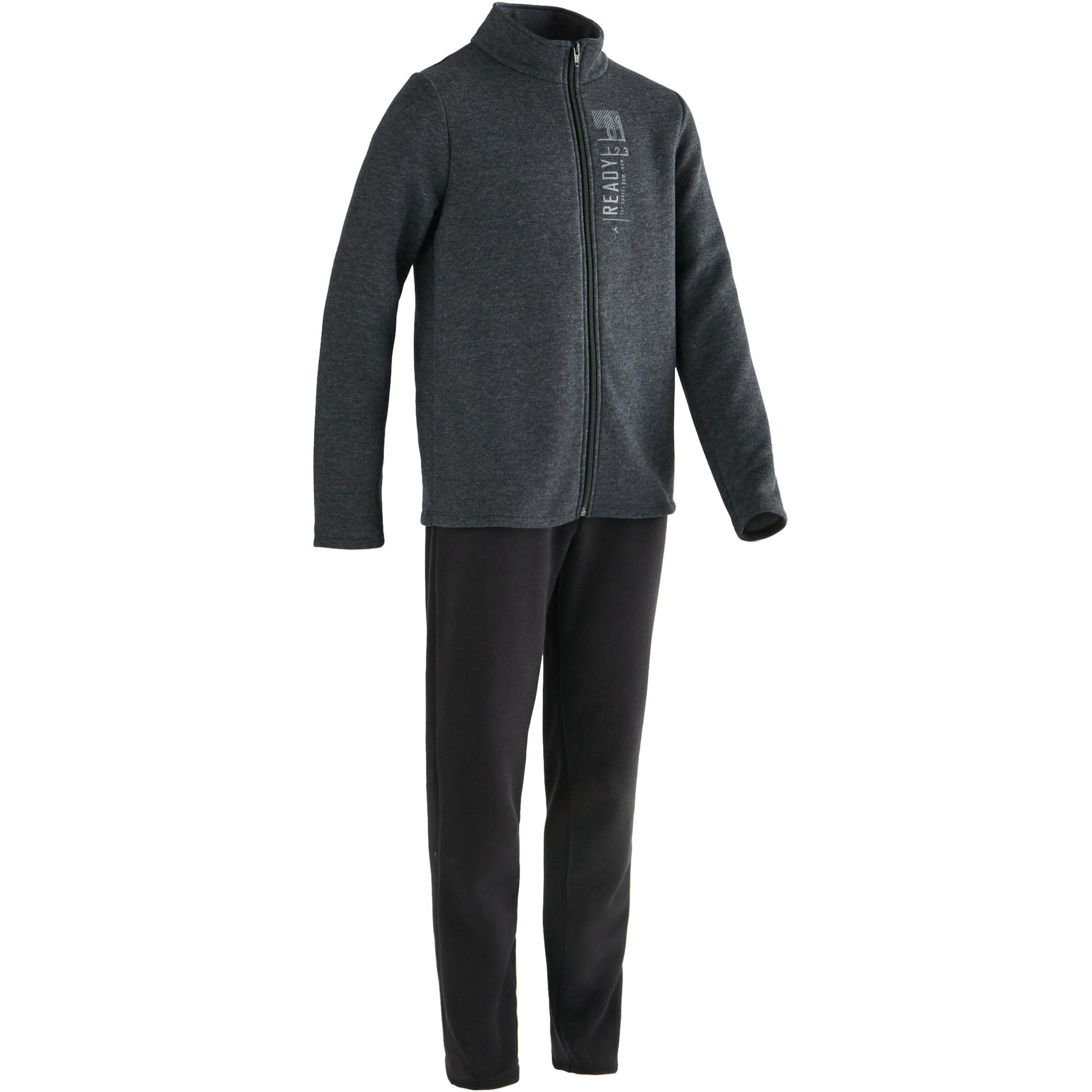 Jungen,  Kinder,  Kinder Domyos Trainingsanzug Warm'y 100 Gym Kinder grau   03608419186840