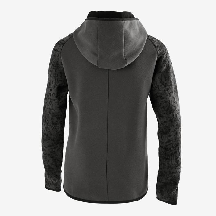 Molton hoodie 500 voor gym jongens grijs