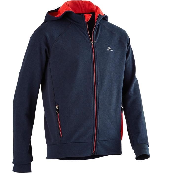 Gym hoodie met rits S900 voor jongens blauw rood