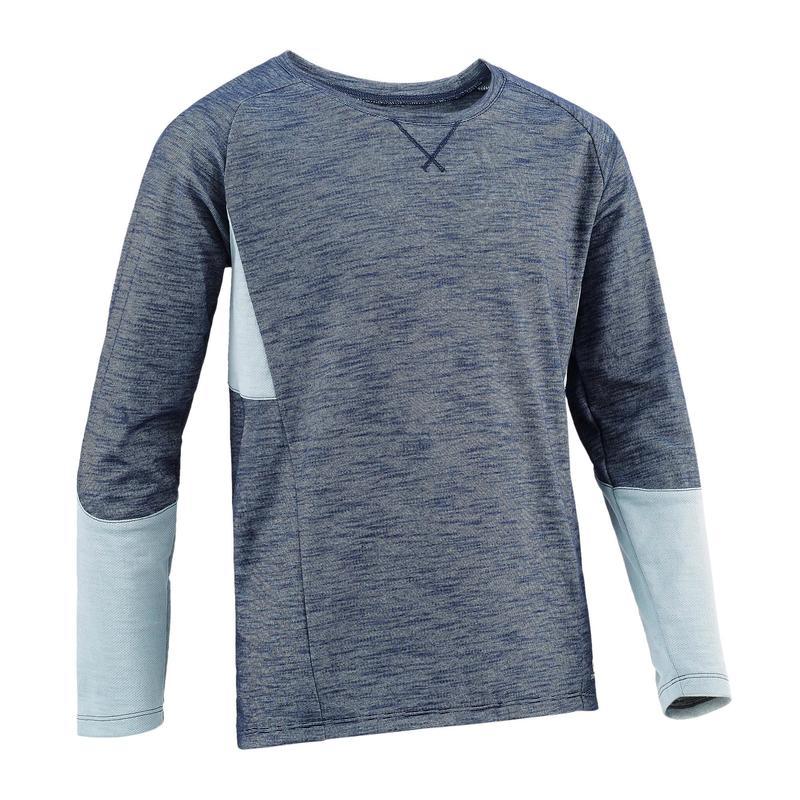 badc08ce6e4b6 500 Boys' Long-Sleeved Gym T-Shirt - Grey   Domyos by Decathlon
