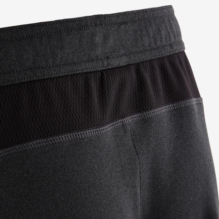 Pantalón slim S900 Gimnasia niña gris azul