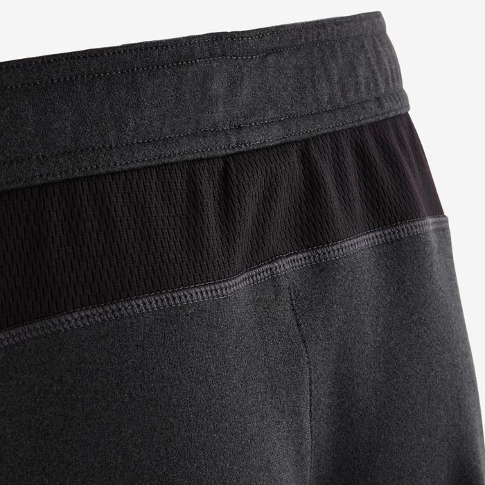 Trainingshose warm atmungsaktiv Slim S900 Gym Kinder dunkelgrau meliert