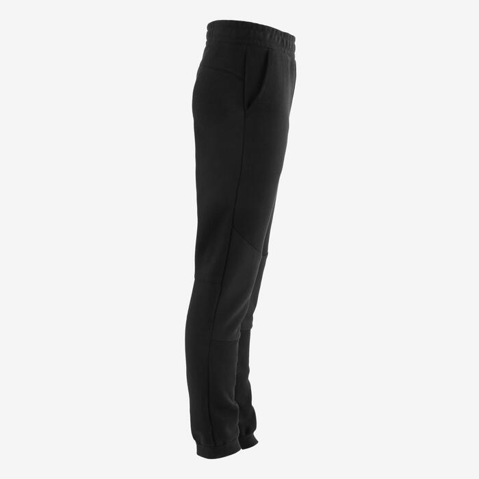 Pantalon spacer 500 Gym garçon noir