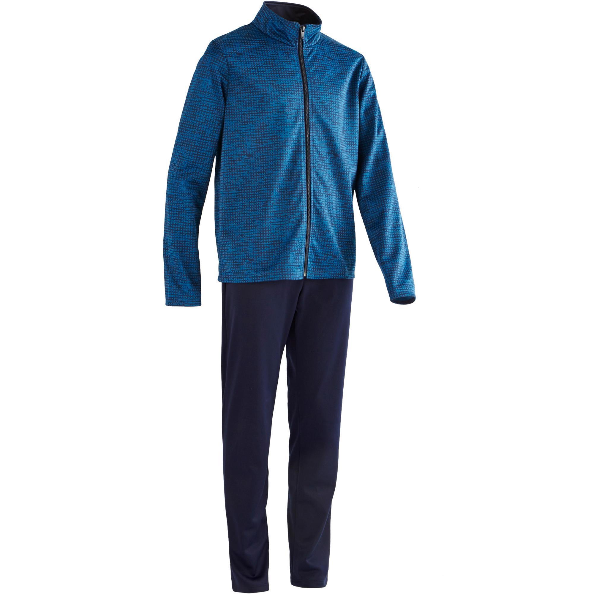 Domyos Gym trainingspak voor jongens Gym'y print blauw