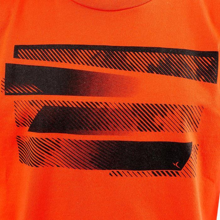 Camiseta manga corta 100 Gimnasia niño rojo estampado