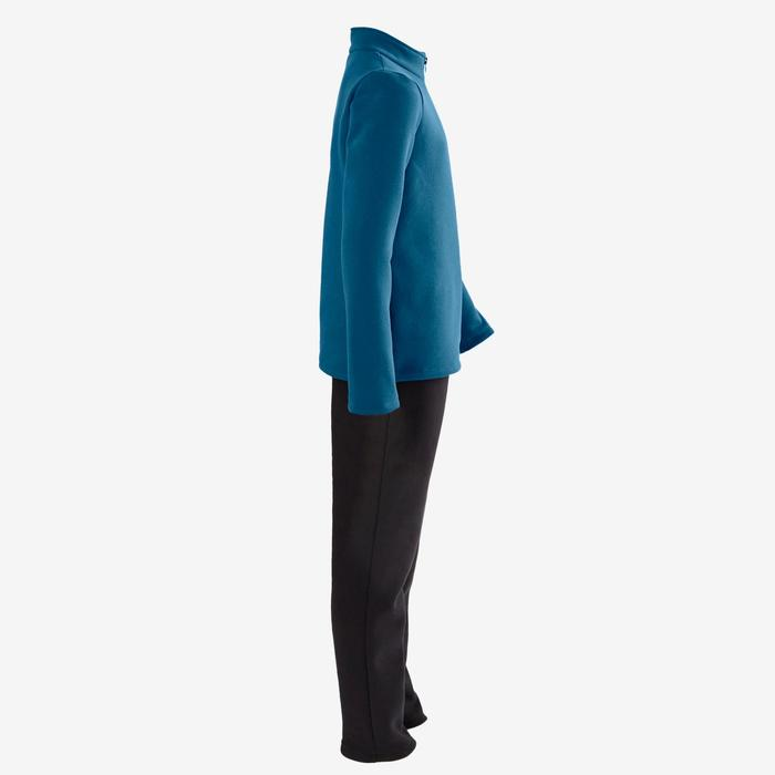 Trainingsanzug Warm'y 100 Gym Kinder blau