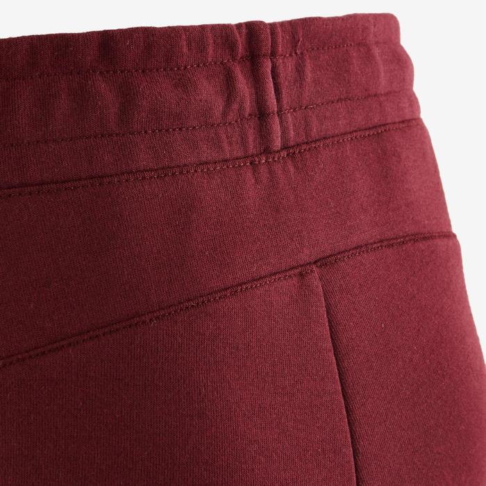 Pantalon spacer 500 Gym garçon bordeaux