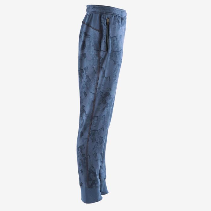Pantalon S900 Gym garçon imprimé bleu foncé - 1502587