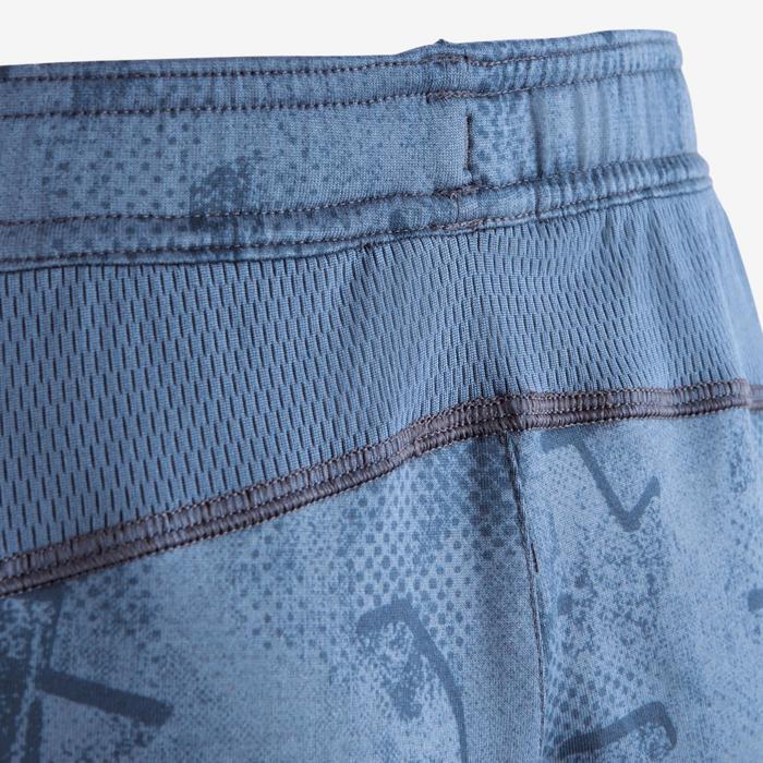 Pantalon S900 Gym garçon imprimé bleu foncé - 1502592