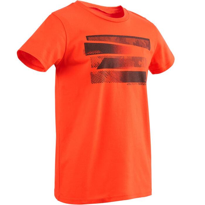 T-Shirt manches courtes 100 Gym garçon rouge imprimé