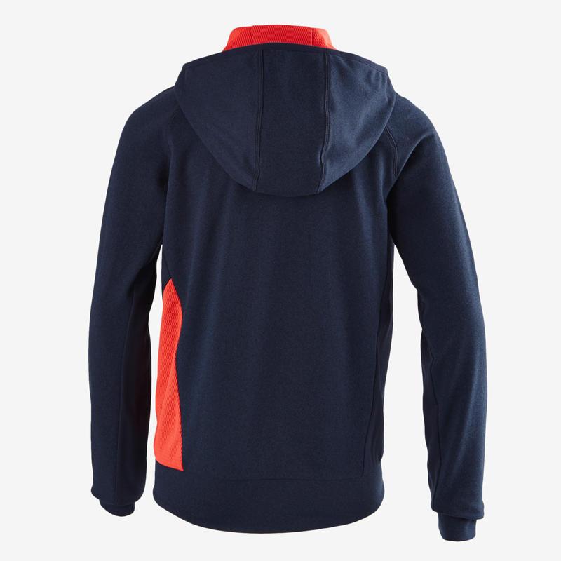 Veste capuche S900 Gym garçon bleu rouge