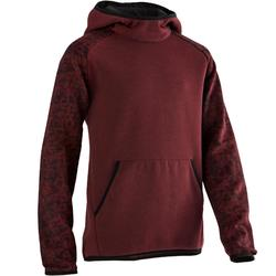 Kapuzenpullover 500 Gym Kinder bordeauxrot