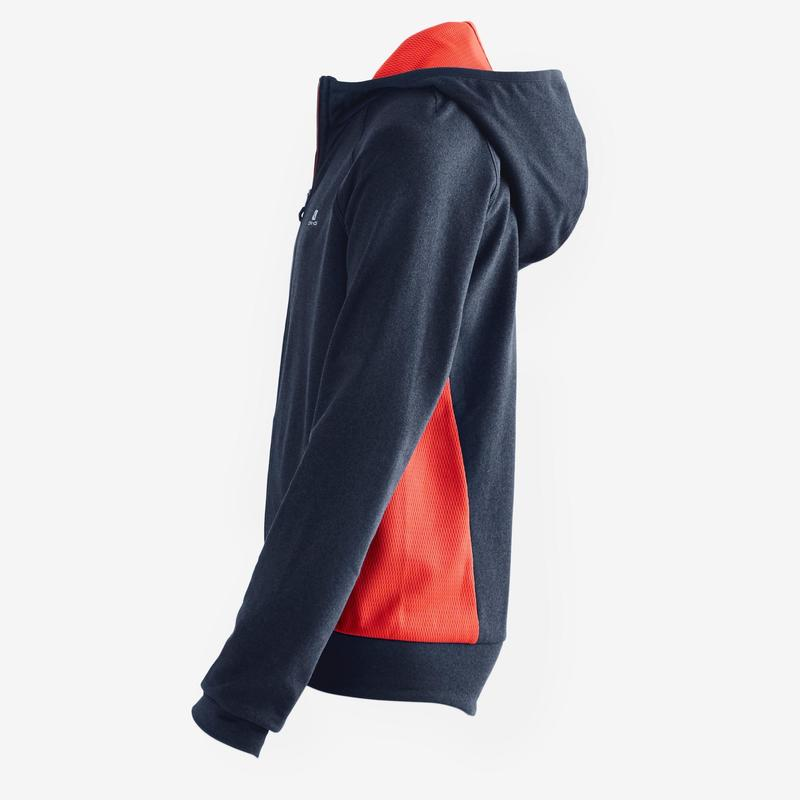 b34bbef9e Chaqueta con capucha S900 Gimnasia niño azul rojo