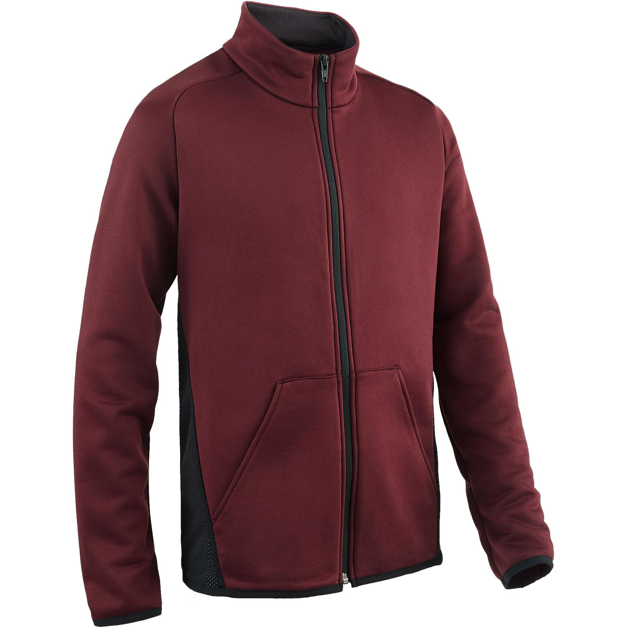 Trainingsjacke S500 Gym Kinder bordeaux/schwarz