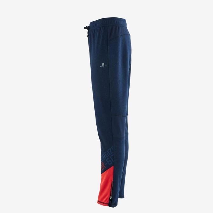 Pantalón slim S900 Gimnasia niño azul rojo